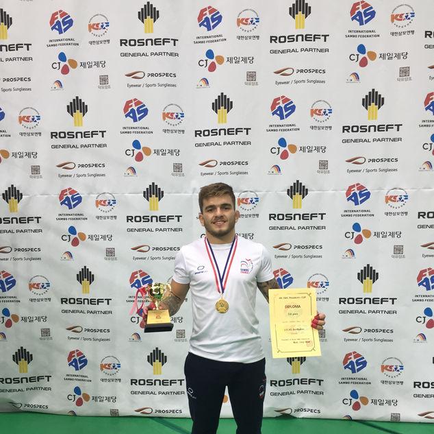 Lucas BERTHOLON - Champion d'Europe Espoir de Sambo