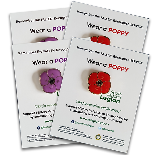 SA Legion Red and Purple Poppy - Family Pack 4