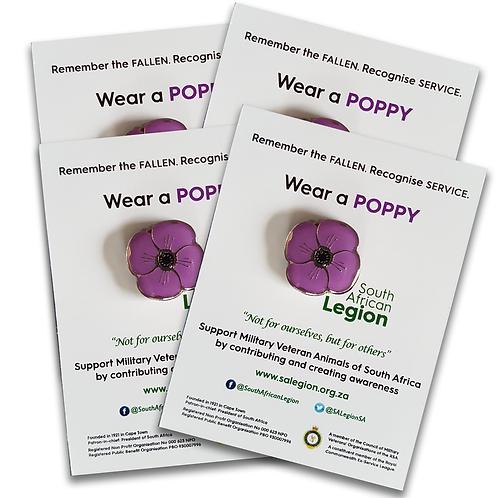 SA Legion Purple Poppy - Family Pack 4