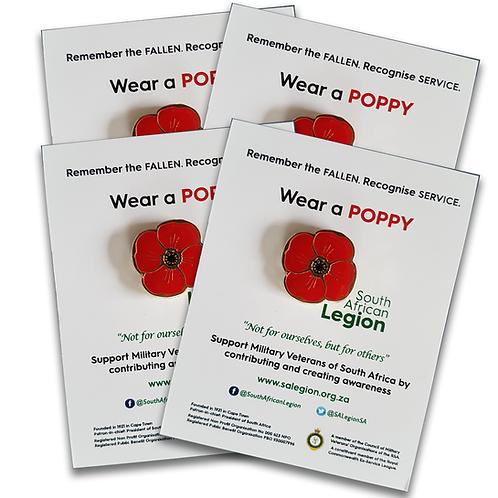 SA Legion Red Poppy - Family Pack 4