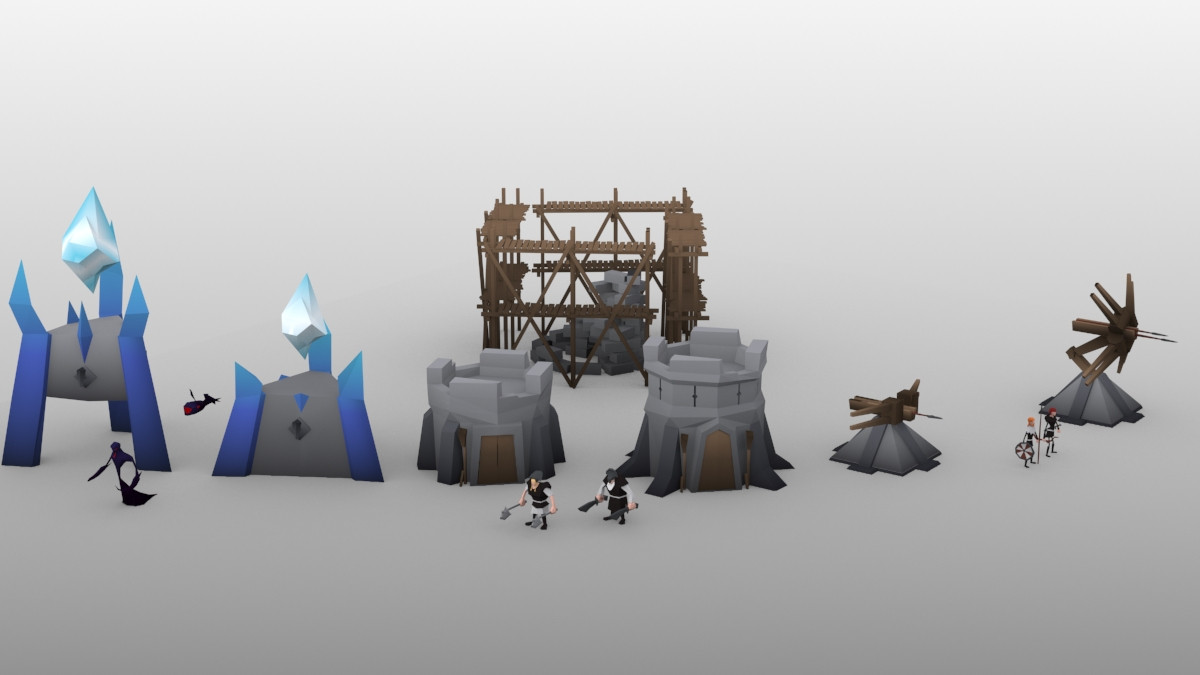 Low Poly Towers