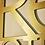 Thumbnail: Lettre et logo couleur or ou argent brossé
