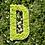 Thumbnail: Lettre et logo végétal naturel : lichen sur bois naturel