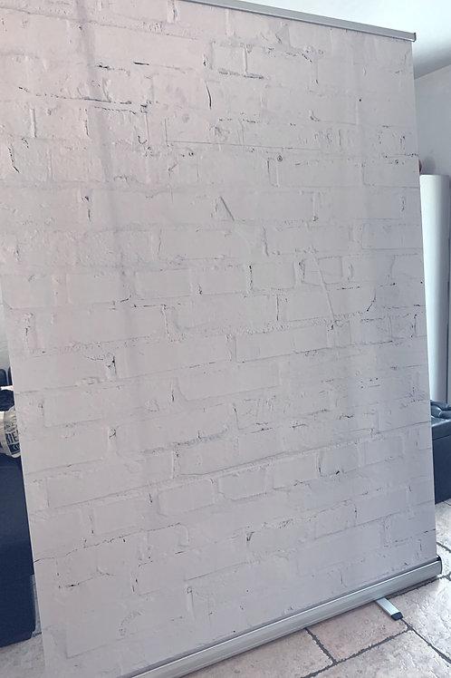 """Roll'up """"mur blanc"""" pour arrière vidéo"""