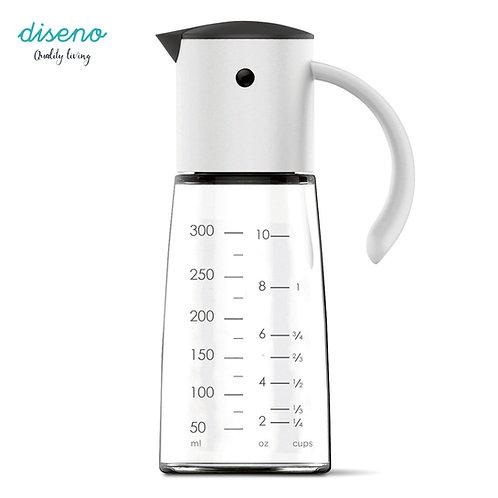 diseno 廚房自動開合玻璃油壺 300ml - 白色