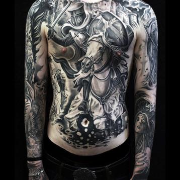 knight-templar-tattoo-back piece-inked-l