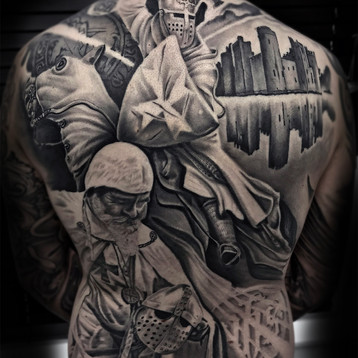 knight templar,back,piece,tattoo,jammes,