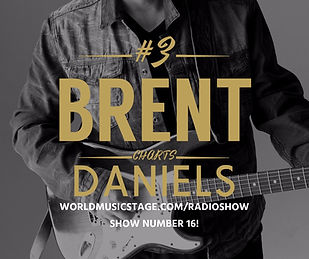Brent Daniels is charting number 3 on World Music Stage.