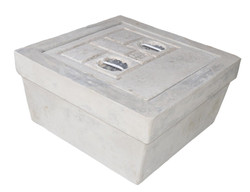 SQUARE CONCRETE EARTH PIT CHAMBER  CONCRETE BASE WITH CONCRETE COVER (500 mm x 500 mm x 250 mm)