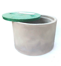 ROUND CONCRETE WITH C I COVER