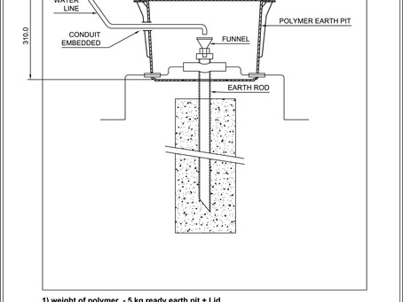 #earth pit,#electrical inspection housing, IS 3043