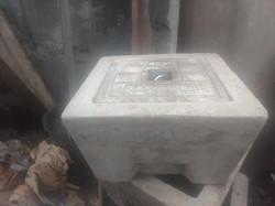 concrete earth inspection housing