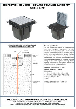 03 - Polymer Square Earth Pit - Small Si