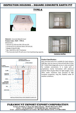 06 - Concrete Earth Pit Chamber - TYPE A