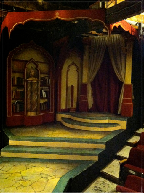 THE KING & I: Painted Deck & Bookcase