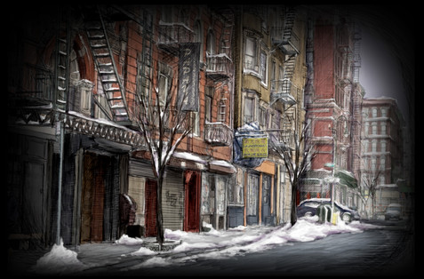 Projection #18: NYC Street, Winter