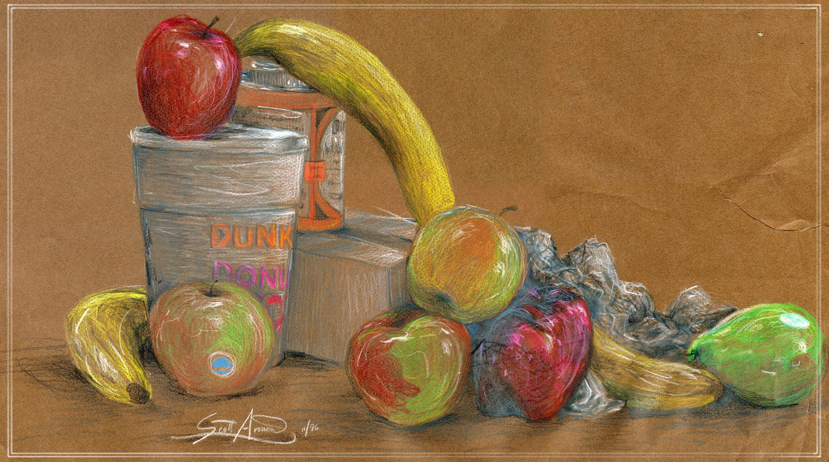 Fruit with Dunkin Cup