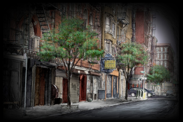 Projection #15: NYC Street, Late Spring
