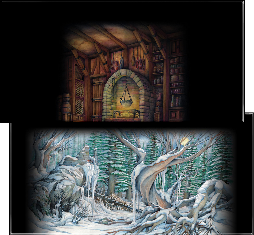 THE NUTCRACKER: Prologue and Pine Forest Backdrop Designs