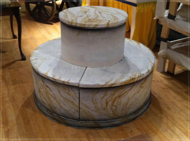 ANNIE: Marble Pouf (not yet upholstered)