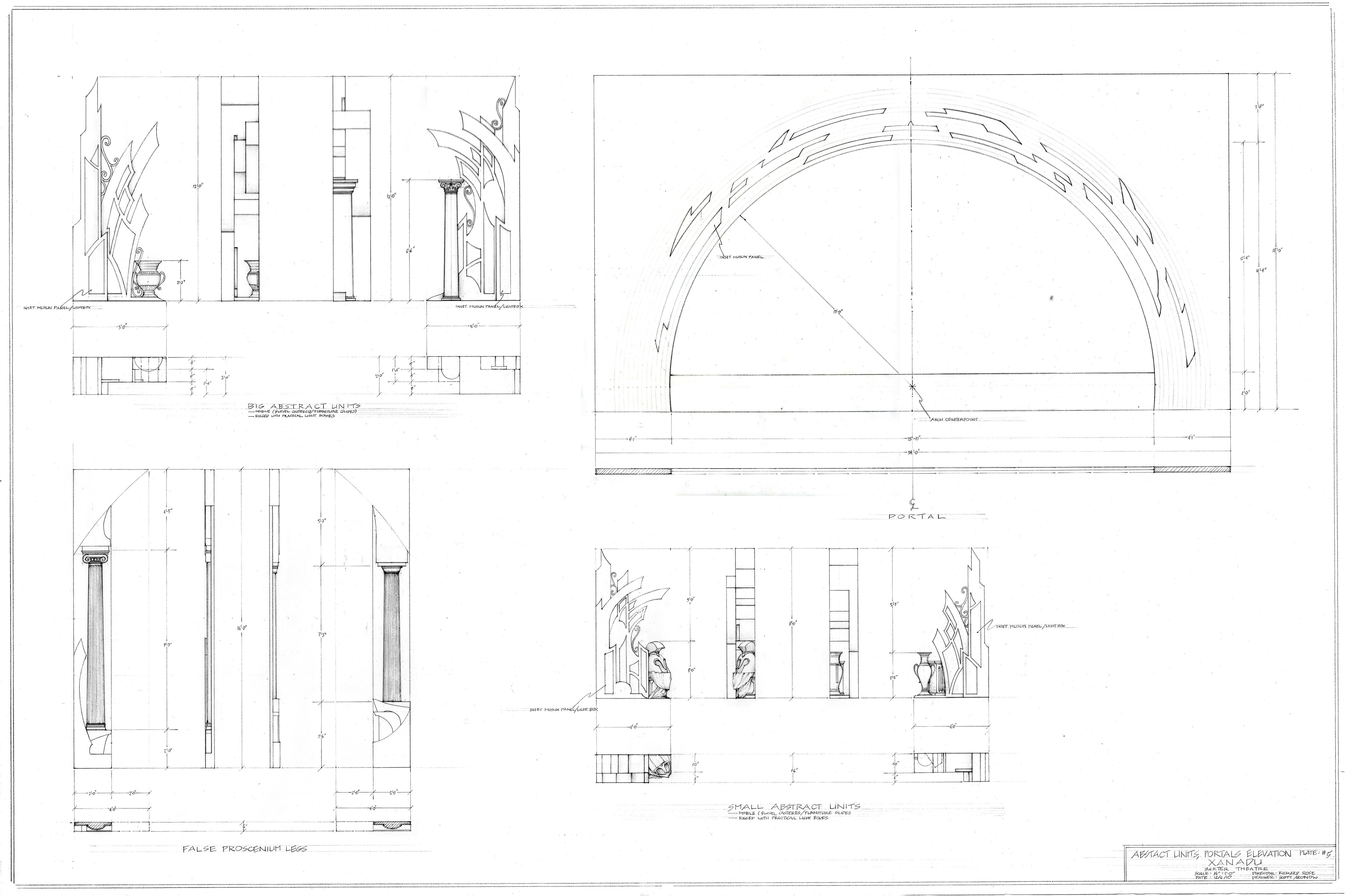 Plate #5-Abstract Units, Portals Elevations