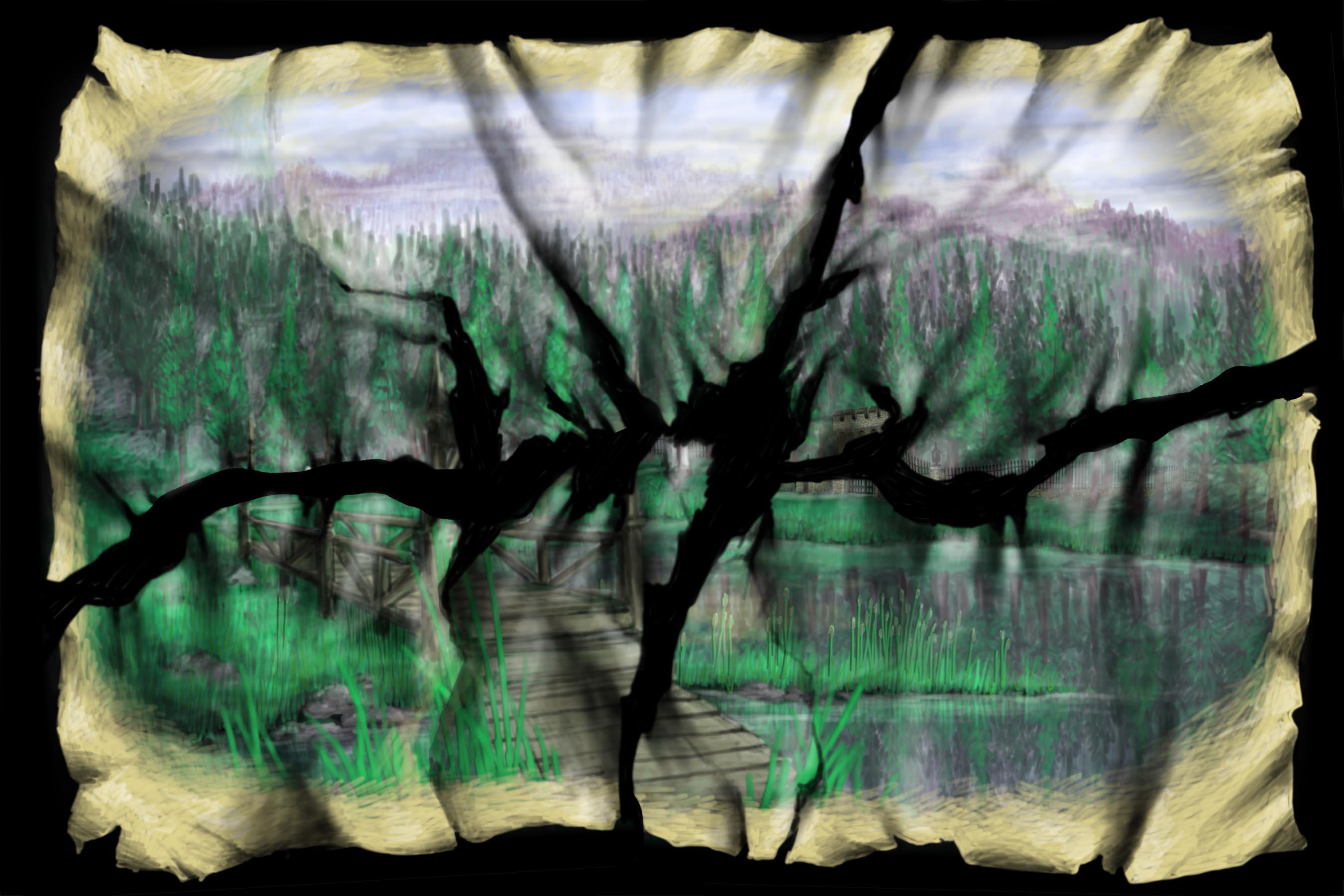 Scene 2j. Lake and Bridge, Tear