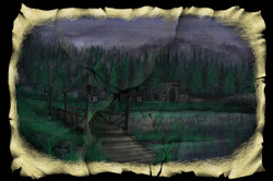 Scene 2h. Lake and Bridge, Dark