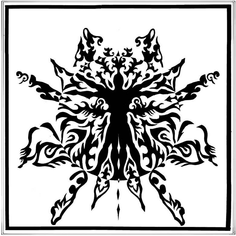 Vitruvian Notan