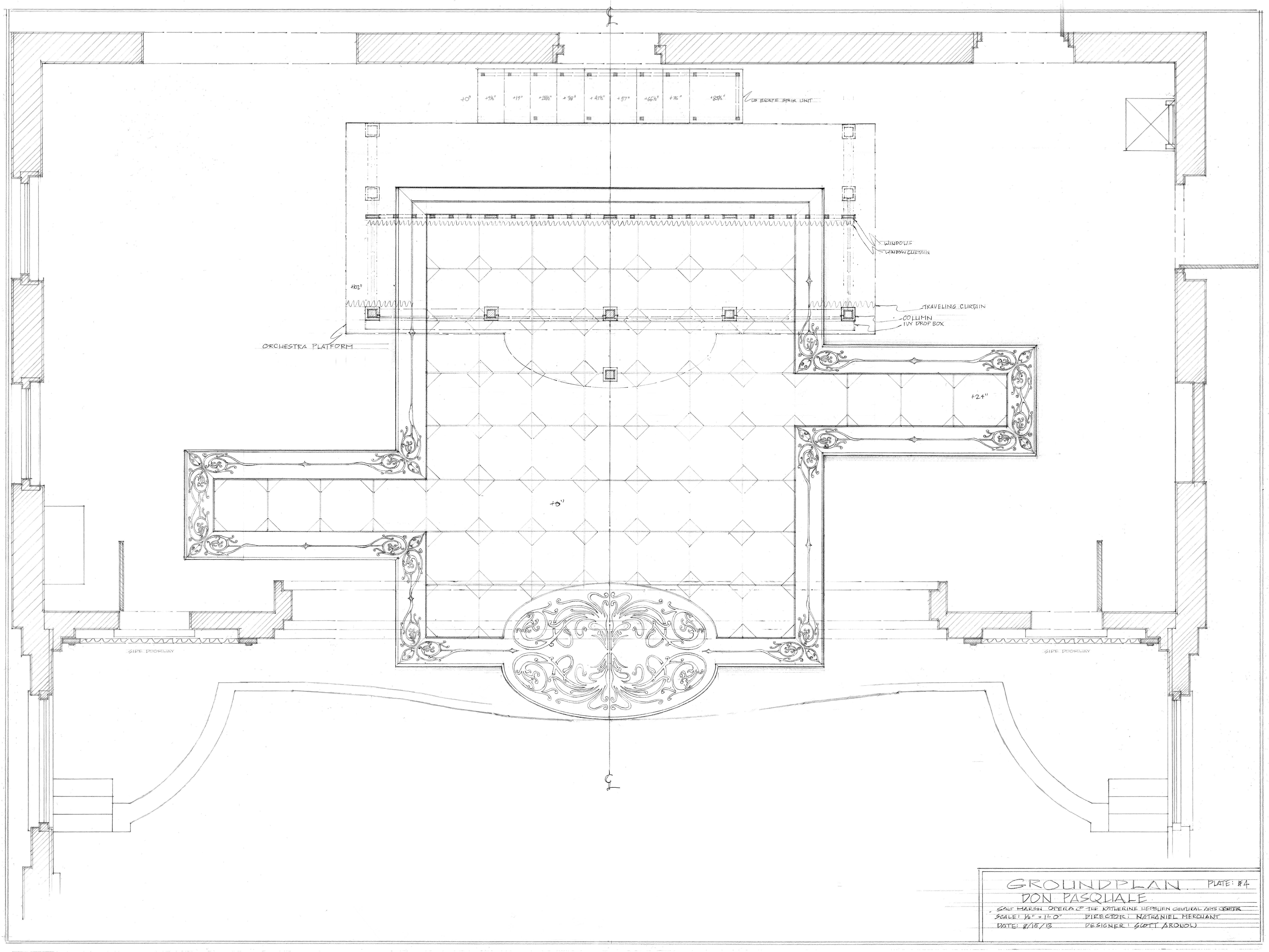 Plate #4. Groundplan, CT
