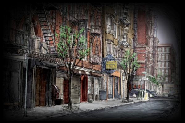 Projection #19: NYC Street, Early Spring