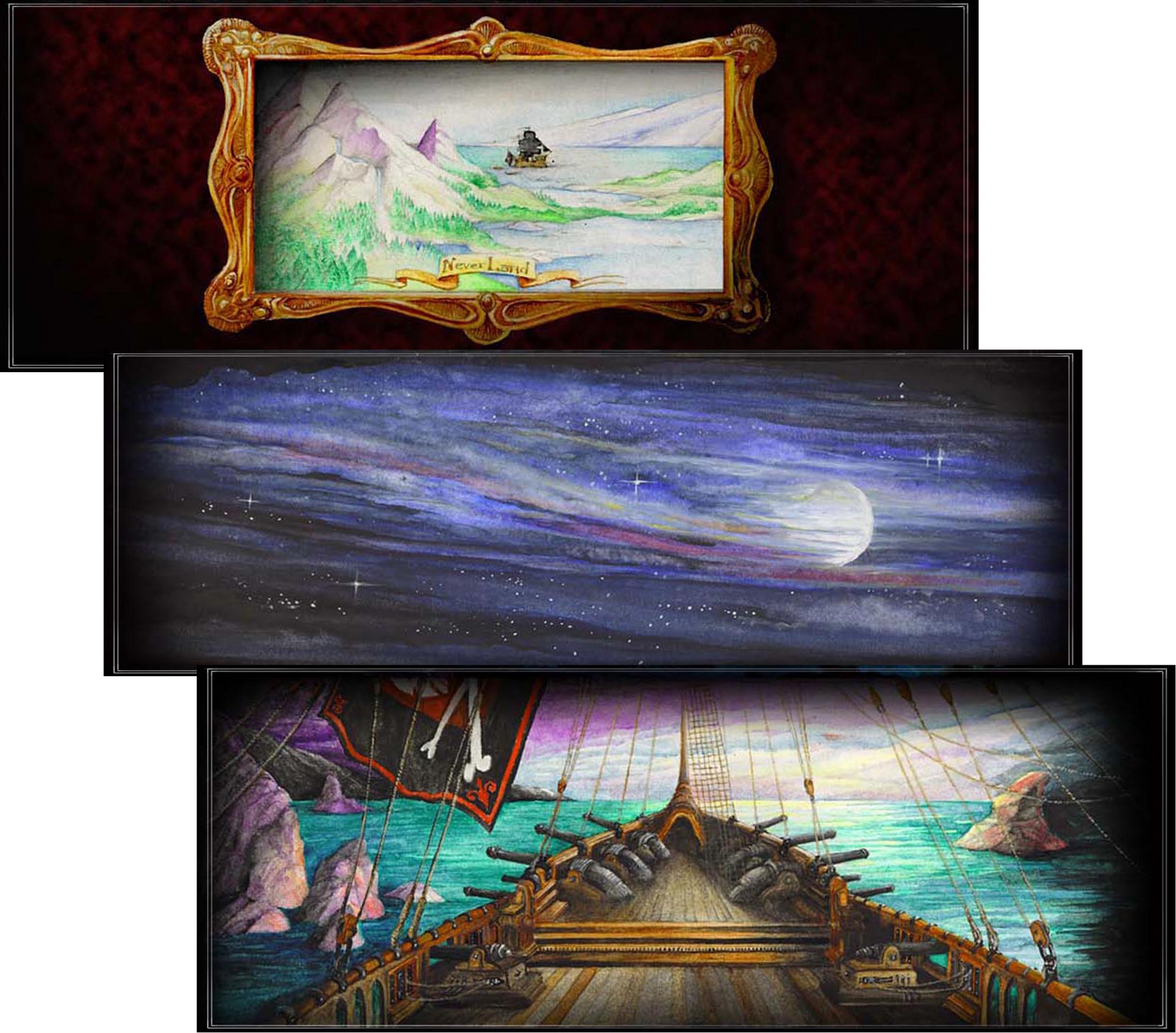 PETER PAN: Backdrop Elevations