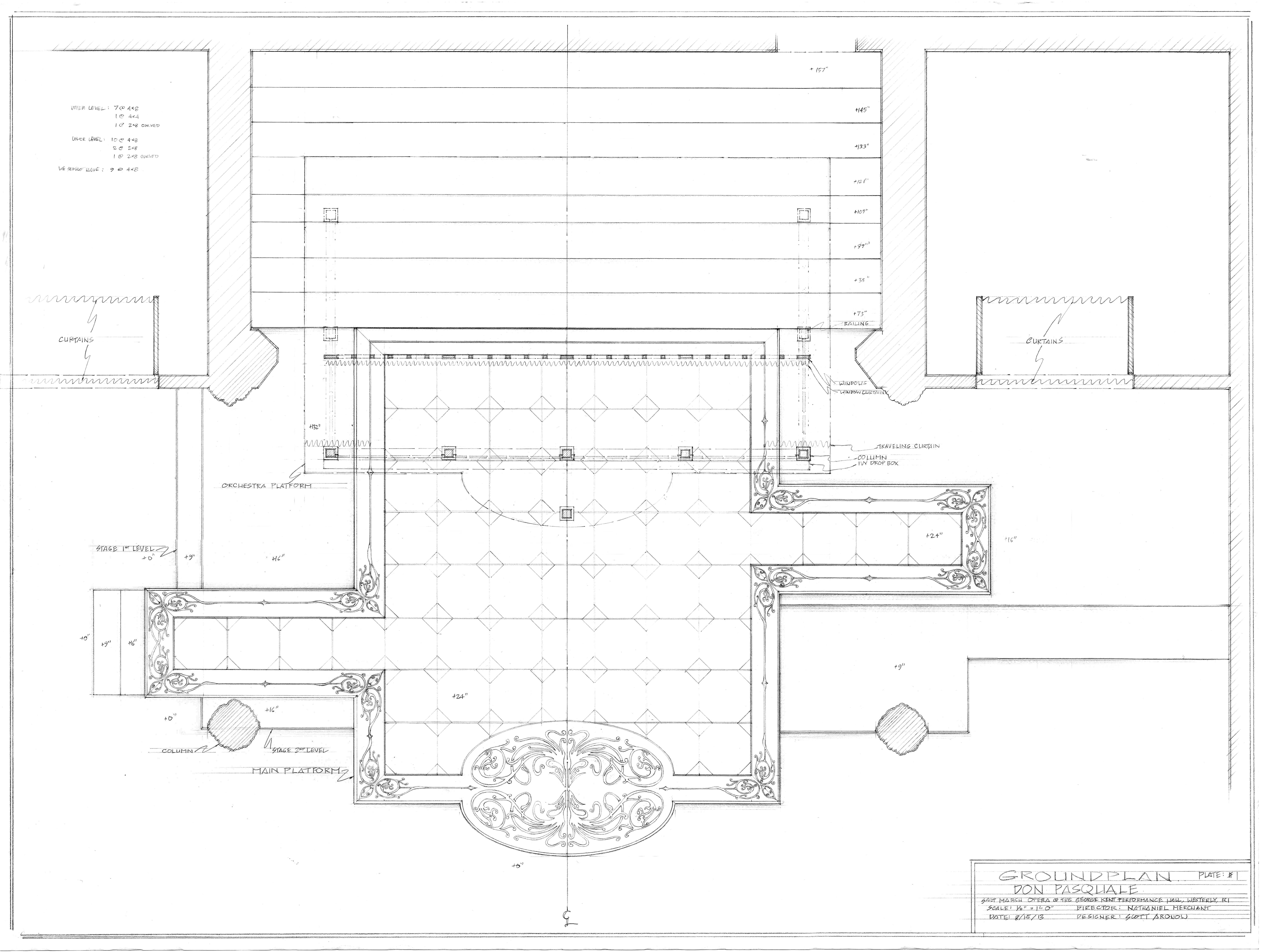 Plate #1. Groundplan, RI