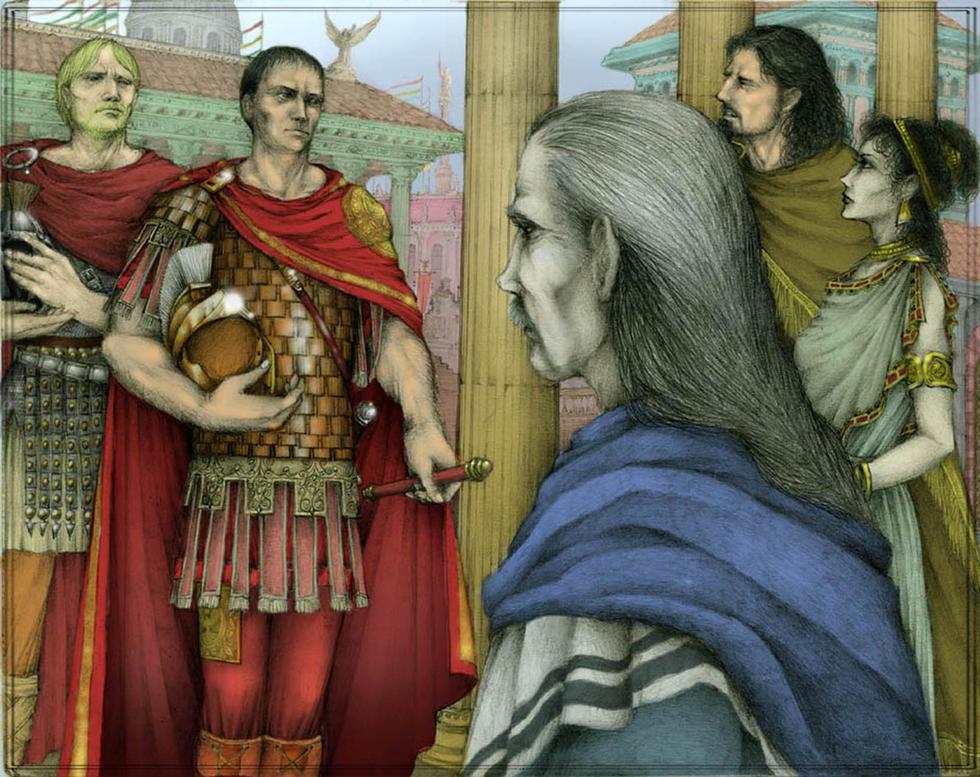 Maximus & Octavius in Corinium (in color)
