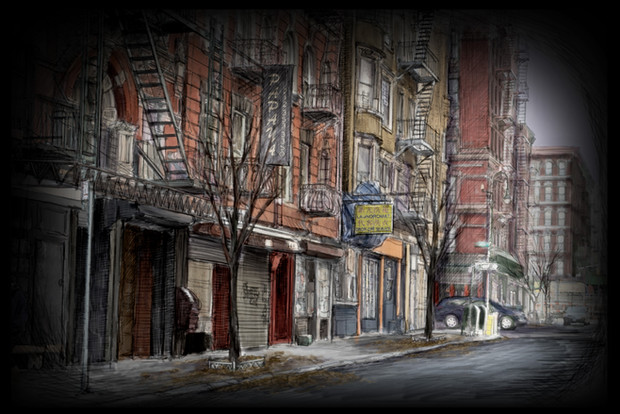 Projection #17: NYC Street, Late Fall