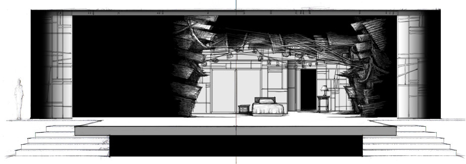 Sketch #2: Kim's Room and Exterior
