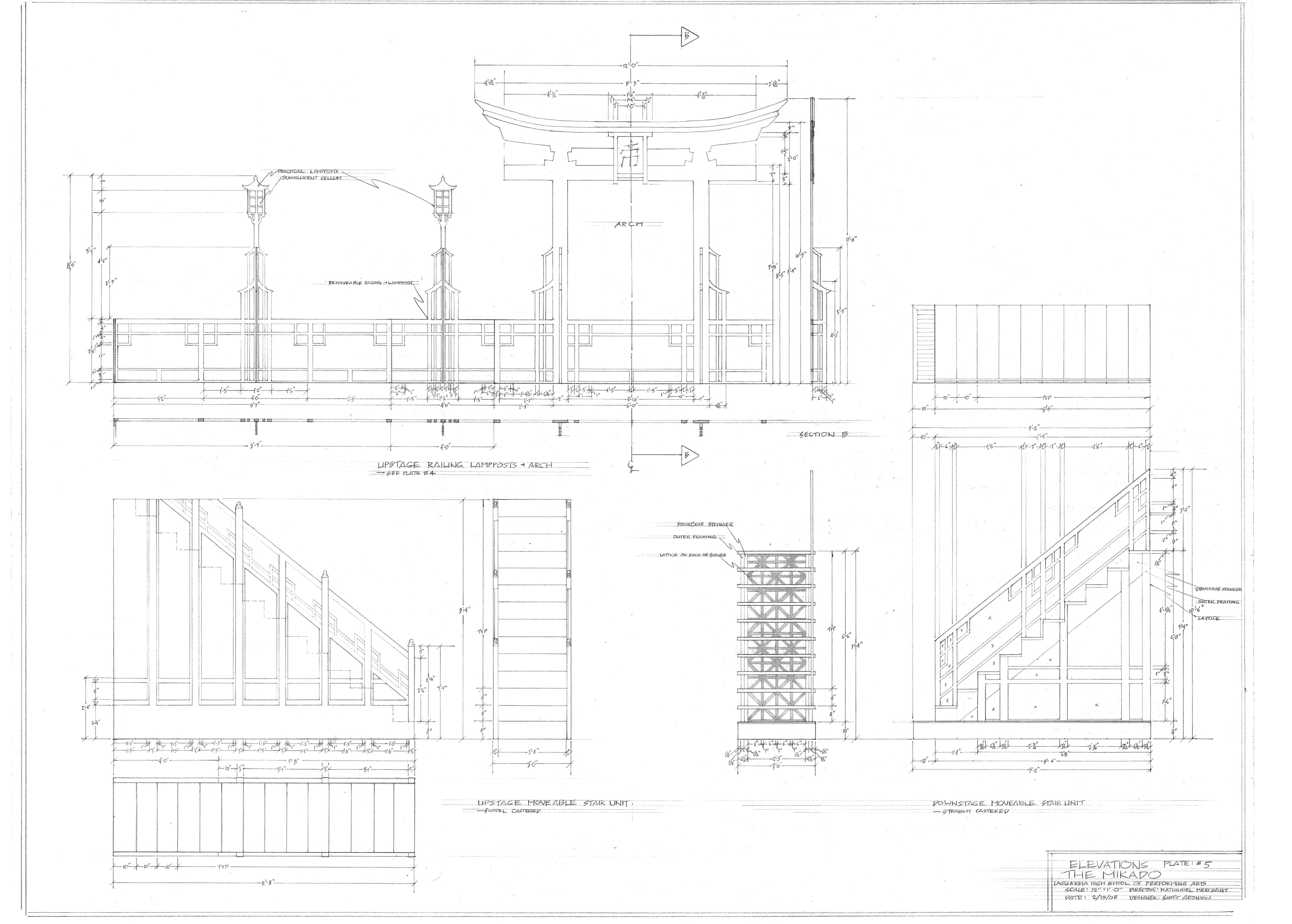 Plate#5.Arch, Railing and Stairs