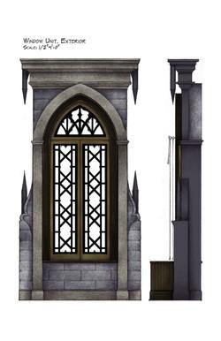 Window Unit Exterior, Side View