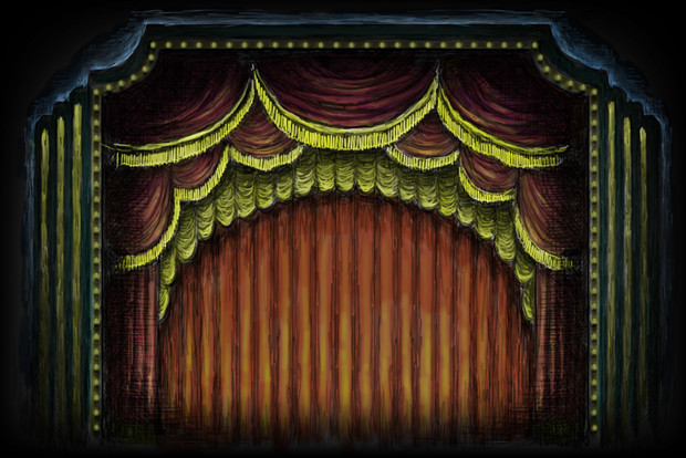Projection #8: Red Curtain
