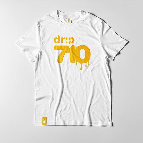 Drip 710 Logo White T Shirt