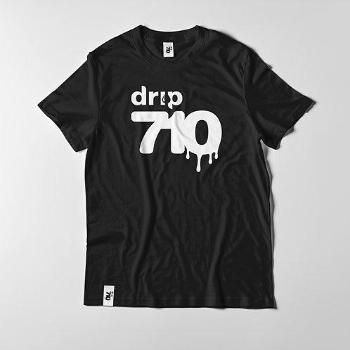 Drip 710 Logo Black T Shirt