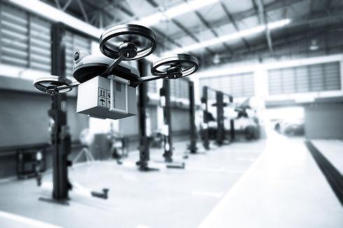 spare-part-delivery-drone-garage-storage