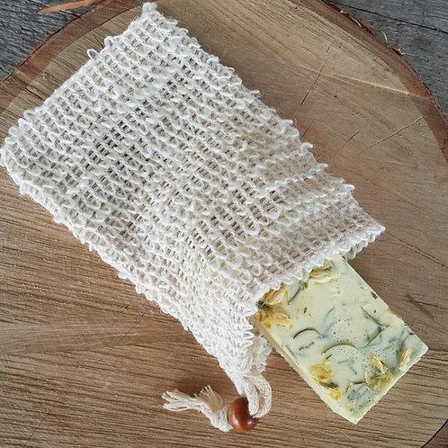 Soap Saver - Natural Fibre Pocket/Drawstring