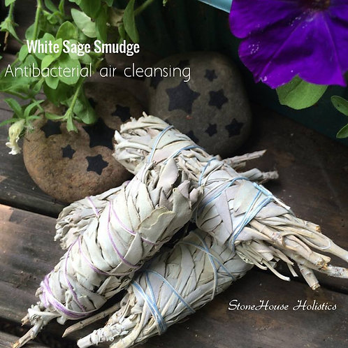 White Sage Smudge Wand ~Our Farm Organically Grown~