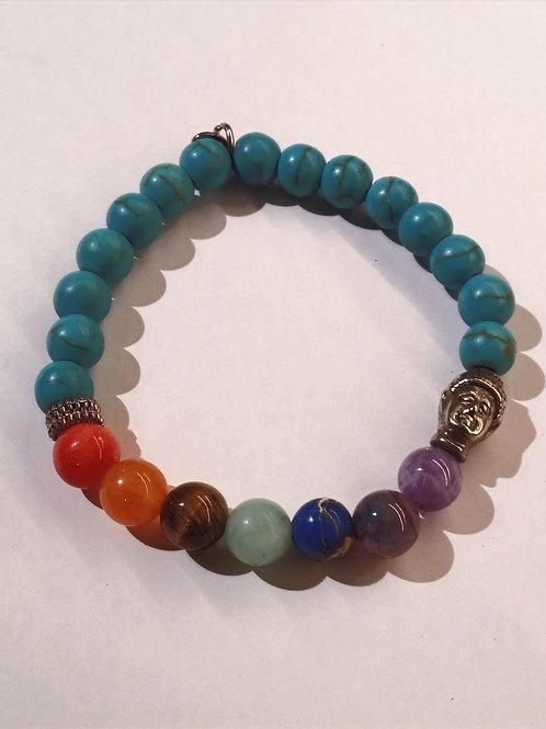 Turquoise Gem Chakra Bracelet