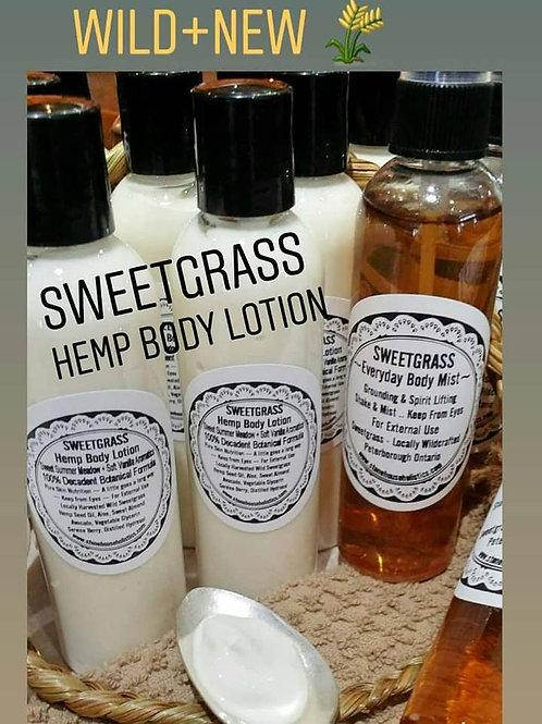 SWEETGRASS Hemp Body Lotion ~100% Botanical