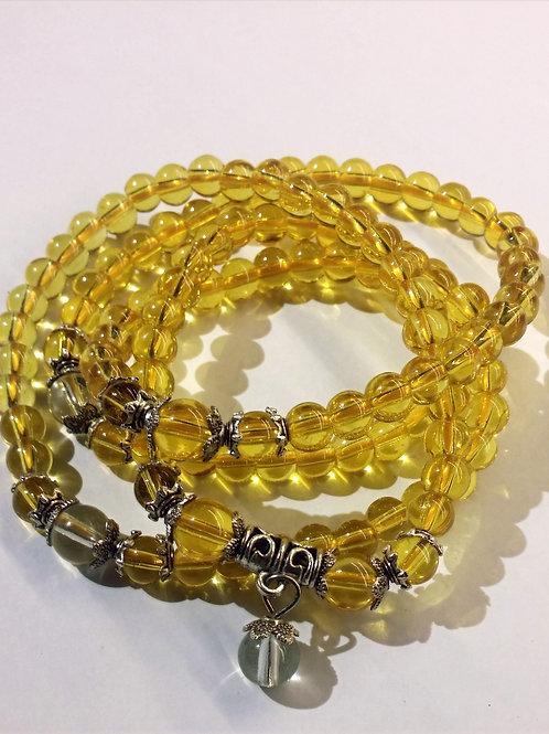 Citrine Mala - Necklace or Wrap Bracelet