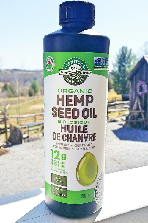Hemp seed Oil - Organic + Canadian