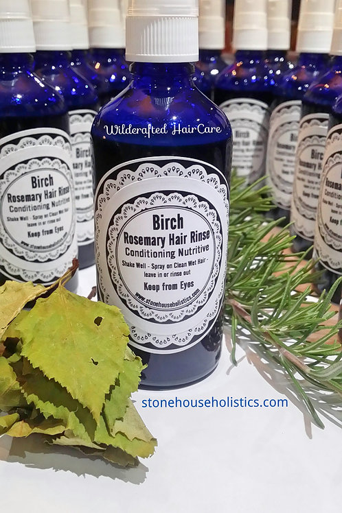 Birch and Rosemary Hair Rinse ~ Wildcrafted
