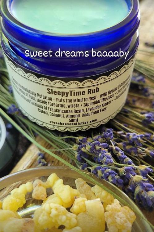 SleepyTime Rub ~ Lavender & Frankincense