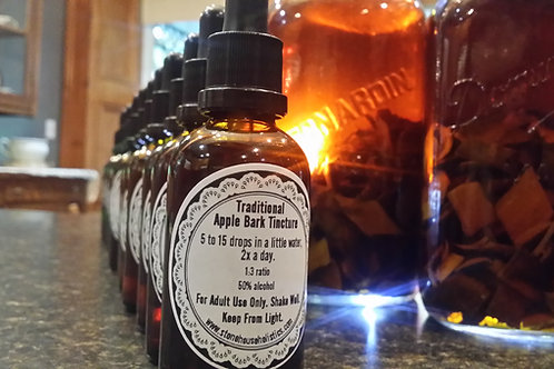 ~Traditional Apple Bark Tincture ~ Wild Crafted Ontario Canada
